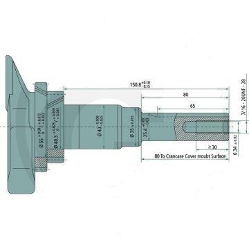 Motor LONCIN LC1P96F - 15,50 CP - ax: Ø 25,40mm - lungime ax: 80mm
